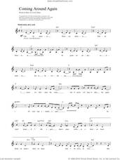 Cover icon of Coming Around Again sheet music for voice and other instruments (fake book) by Carly Simon, intermediate skill level