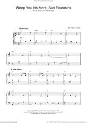 Cover icon of Weep You No More, Sad Fountains (from Sense And Sensibility) sheet music for piano solo by Patrick Doyle and Sense And Sensibility (Movie), intermediate skill level