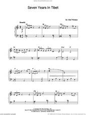 Cover icon of Seven Years in Tibet sheet music for piano solo by John Williams, intermediate skill level
