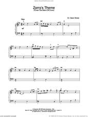 Cover icon of Zorro's Theme sheet music for piano solo by James Horner, intermediate skill level