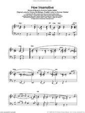 Cover icon of How Insensitive sheet music for piano solo by Bennie Harris and Parker,C, intermediate skill level