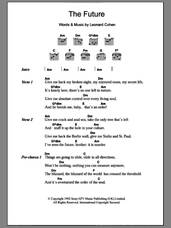 Cover icon of The Future sheet music for guitar (chords) by Leonard Cohen, intermediate skill level