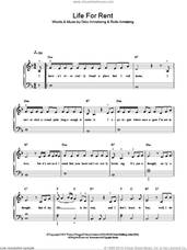 Cover icon of Life For Rent sheet music for piano solo by Dido Armstrong and Rollo Armstrong, easy skill level