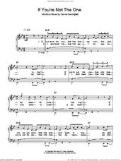 Cover icon of If You're Not The One sheet music for piano solo by Daniel Bedingfield, easy skill level