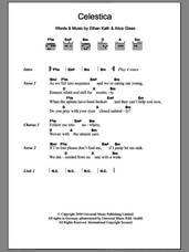 Cover icon of Celestica sheet music for guitar (chords) by Crystal Castles, Alice Glass and Ethan Kath, intermediate skill level
