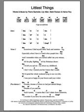 Cover icon of Littlest Things sheet music for guitar (chords) by Lily Allen, Herve Roy, Mark Ronson and Pierre Bachelet, intermediate skill level
