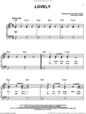 Cover icon of Lovely sheet music for piano solo by Chris Tomlin and Jason Ingram, easy skill level