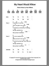 Cover icon of My Heart Would Know sheet music for guitar (chords) by The The and Hank Williams, intermediate skill level