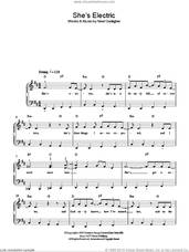 Cover icon of She's Electric sheet music for piano solo by Oasis and Noel Gallagher, easy skill level