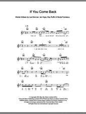 Cover icon of If You Come Back sheet music for voice and other instruments (fake book) , Ian Hope, Lee Brennan, Nicole Formescu and Ray Ruffin, intermediate skill level