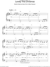 Cover icon of Lonely This Christmas sheet music for piano solo by Mud, Mike Chapman and Nicky Chinn, easy skill level