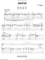 Cover icon of Martin sheet music for guitar solo (chords) by Zac Brown Band and Zac Brown, easy guitar (chords)