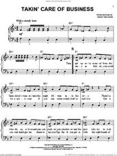 Cover icon of Takin' Care Of Business sheet music for piano solo by Bachman-Turner Overdrive and Randy Bachman, easy skill level