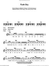 Cover icon of Rude Boy sheet music for piano solo (chords, lyrics, melody) by Rihanna, Ester Dean, Makeba Riddick, Mikkel S. Eriksen, Rob Swire, Robyn Fenty and Tor Erik Hermansen, intermediate piano (chords, lyrics, melody)