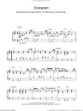 Cover icon of Evergreen sheet music for piano solo by Westlife, Will Young, David Kreuger, Jorgen Elofsson and Per Magnusson, intermediate skill level
