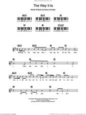 Cover icon of The Way It Is sheet music for piano solo (chords, lyrics, melody) by Bruce Hornsby, intermediate piano (chords, lyrics, melody)