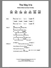 Cover icon of The Way It Is sheet music for guitar (chords) by Bruce Hornsby, intermediate skill level