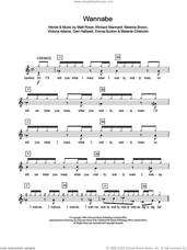 Cover icon of Wannabe sheet music for piano solo (chords, lyrics, melody) by The Spice Girls, Emma Bunton, Geri Halliwell, Matt Rowe, Melanie Brown, Melanie Chisholm, Richard Stannard and Victoria Adams, intermediate piano (chords, lyrics, melody)