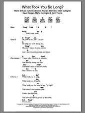 Cover icon of What Took You So Long? sheet music for guitar (chords) by Emma Bunton, intermediate skill level