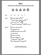 Cover icon of Zero sheet music for guitar (chords) by Yeah Yeah Yeahs, Brian Chase, Karen Orzolek and Nick Zinner, intermediate skill level