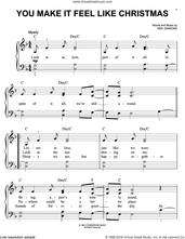 Cover icon of You Make It Feel Like Christmas sheet music for piano solo by Neil Diamond, easy skill level