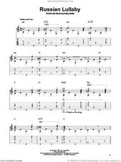 Cover icon of Russian Lullaby sheet music for guitar solo by Irving Berlin, intermediate skill level