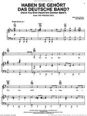 Cover icon of Haben Sie Gehort Das Deutsche Band? (Have You Ever Heard The German Band?) sheet music for voice, piano or guitar by Mel Brooks and The Producers (Musical), intermediate skill level