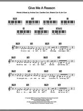 Cover icon of Give Me A Reason sheet music for piano solo (chords, lyrics, melody) by The Corrs, Andrea Corr, Caroline Corr, Jim Corr and Sharon Corr, intermediate piano (chords, lyrics, melody)