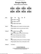 Cover icon of Boogie Nights sheet music for piano solo (chords, lyrics, melody) by Heatwave and Rod Temperton, intermediate piano (chords, lyrics, melody)