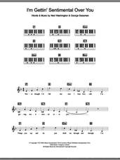 Cover icon of I'm Gettin' Sentimental Over You sheet music for piano solo (chords, lyrics, melody) by Frank Sinatra, George Bassman and Ned Washington, intermediate piano (chords, lyrics, melody)