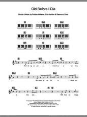 Cover icon of Old Before I Die sheet music for piano solo (chords, lyrics, melody) by Robbie Williams, Desmond Child and Eric Bazilian, intermediate piano (chords, lyrics, melody)
