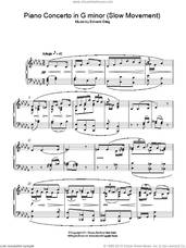 Cover icon of Piano Concerto in G minor (Slow Movement) sheet music for piano solo by Edvard Grieg, classical score, intermediate skill level