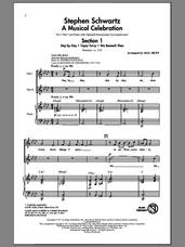 Cover icon of Stephen Schwartz: A Musical Celebration (Medley) sheet music for choir (2-Part) by Stephen Schwartz, Jane M. Campbell, Matthias Claudius and Mac Huff, intermediate duet
