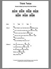 Cover icon of Think Twice sheet music for piano solo (chords, lyrics, melody) by Celine Dion, Andy Hill and Pete Sinfield, intermediate piano (chords, lyrics, melody)