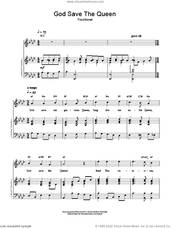 Cover icon of God Save The Queen (UK National Anthem) sheet music for voice, piano or guitar, intermediate skill level