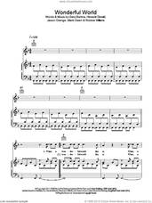 Cover icon of Wonderful World sheet music for voice, piano or guitar by Take That, Gary Barlow, Howard Donald, Jason Orange, Mark Owen and Robbie Williams, intermediate skill level