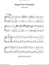 Cover icon of Roses From The South sheet music for piano solo by Johann Strauss, Jr., classical score, intermediate skill level