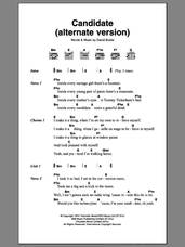 Cover icon of Candidate sheet music for guitar (chords) by David Bowie, intermediate skill level