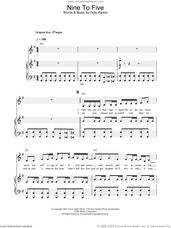 Cover icon of Nine To Five sheet music for voice, piano or guitar by Dolly Parton, intermediate skill level