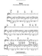 Cover icon of Brick sheet music for voice, piano or guitar by Ben Folds Five, Ben Folds and Darren Jessee, intermediate skill level