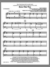 Cover icon of Born This Way (complete set of parts) sheet music for orchestra/band (Rhythm) by Lady Gaga, Fernando Garibay, Jeppe Laursen, Paul Blair, Adam Anders, Glee Cast, Miscellaneous, Roger Emerson and Tim Davis, intermediate skill level