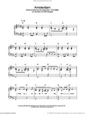 Cover icon of Amsterdam sheet music for piano solo by Coldplay, Chris Martin, Guy Berryman, Jon Buckland and Will Champion, easy skill level