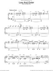 Cover icon of Theme from Law And Order sheet music for piano solo by Mike Post, intermediate skill level