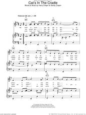 Cover icon of Cat's In The Cradle sheet music for voice, piano or guitar by Harry Chapin and Sandy Chapin, intermediate skill level
