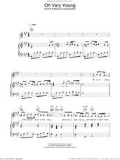Cover icon of Oh Very Young sheet music for voice, piano or guitar by Cat Stevens, intermediate skill level