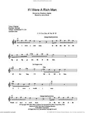 Cover icon of If I Were A Rich Man (from The Fiddler On The Roof) sheet music for voice and other instruments (fake book) by Jerry Bock, Bock & Harnick and Sheldon Harnick, intermediate skill level
