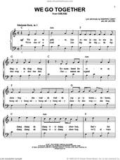 Cover icon of We Go Together sheet music for piano solo by Jim Jacobs, Grease (Musical) and Warren Casey, easy skill level