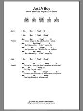 Cover icon of Just A Boy sheet music for guitar (chords) by Julia Stone and Angus Stone, intermediate skill level