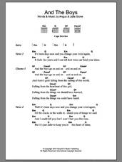 Cover icon of And The Boys sheet music for guitar (chords) by Julia Stone and Angus Stone, intermediate skill level