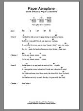 Cover icon of Paper Aeroplane sheet music for guitar (chords) by Julia Stone and Angus Stone, intermediate skill level